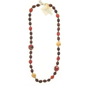 Gara Danielle Designer Red Agate Necklace